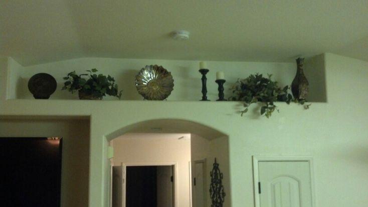 Tuscan Inspired Plant Ledge Decor-Living Room