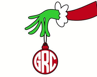 Grinch Monogram Christmas SVG DXF Vector Files For