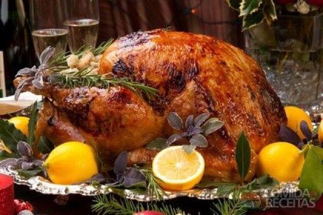 Receita de Peru assado especial em receitas de aves, veja essa e outras receitas aqui!: