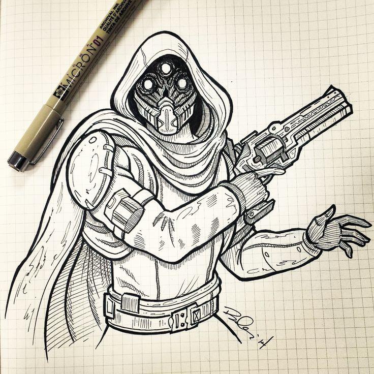 Hunter Sketch Destiny Fan Art Pinterest Sketches And