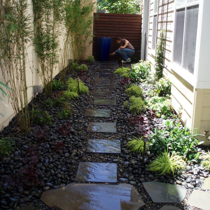 Landscaping Ideas For Long Narrow Backyards | Garden Ideas ... on Long Narrow Backyard Design Ideas id=50216