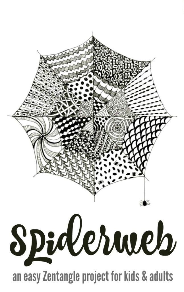 Tangled Webs An Easy Zentangle Project For Kids And