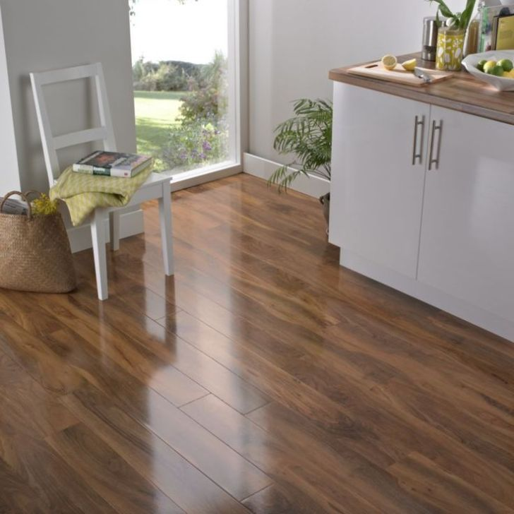 Laminate Flooring Kitchen Wood Dark Walnut Floors
