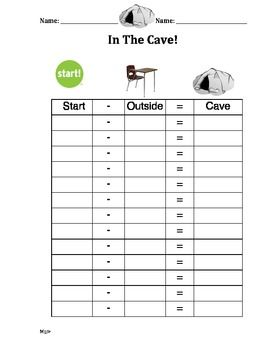 Math Cave Worksheet