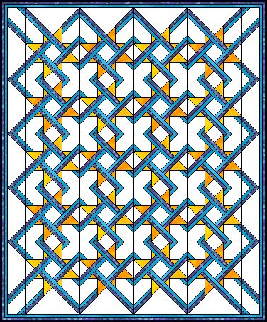 Cool quilt block pattern, I think it would look amazing using red, black, white…