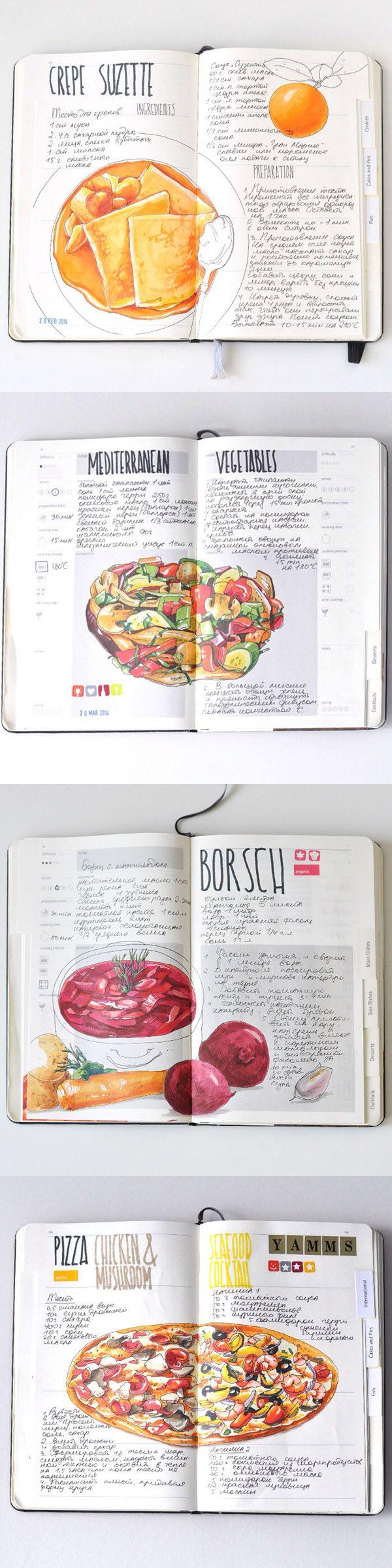 Recipe journal 2014 by Sally Mao//