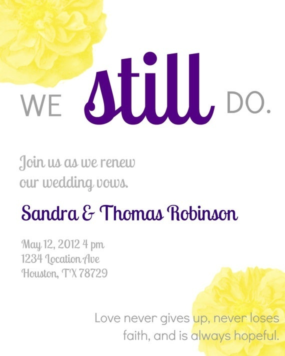 Cheap Invitations Vow Renewal