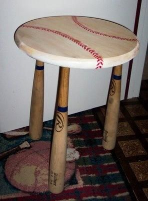 Reruns Batted In 9 Hit Ways To Recycle Baseball Bats Little Boys Roombaseball Decor