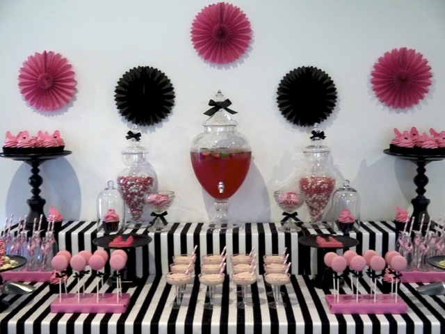 Pink, Black And White Party #pink #party
