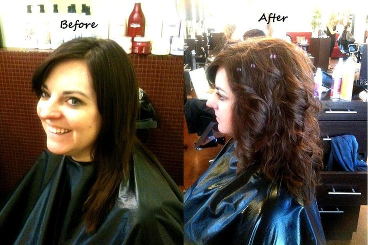 Hair By Mica Riggs Before And After Of A Perm Design To