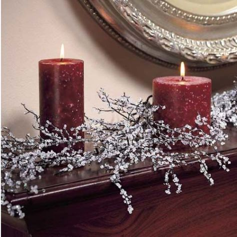 DIY Making Iced Branches: