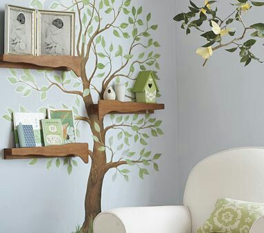 Cute Woodland Theme Idea For Nursery Could Combine With Bird House Night Light As