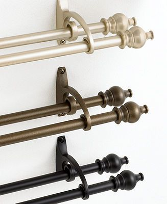 25 Best Ideas About Double Curtain Rods On Pinterest Double Curtains Decorative Curtain Rods