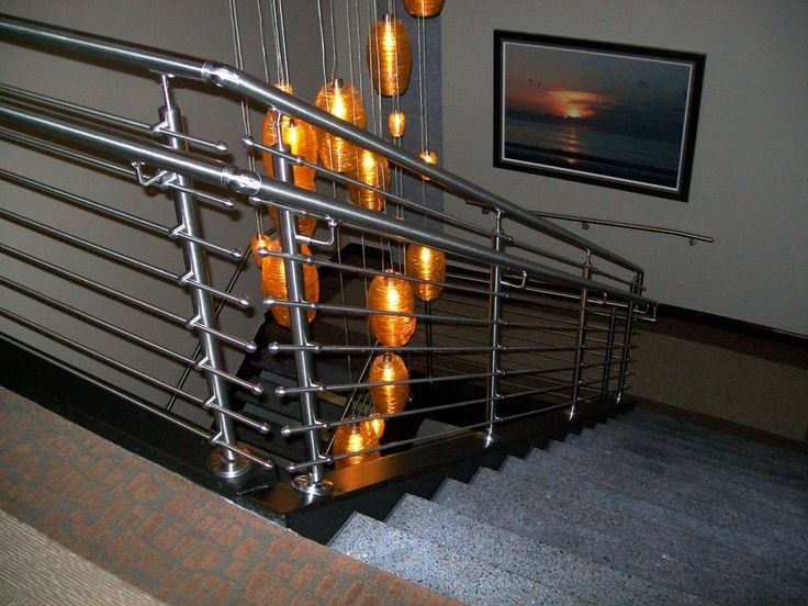 17 Best Images About Pipe Railing On Pinterest Curtain | Gas Pipe Stair Railing