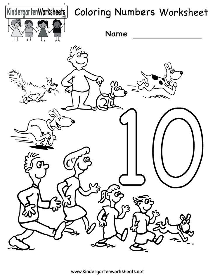 17 Best images about Math on Pinterest | Kindergarten ... | number coloring worksheets for kindergarten