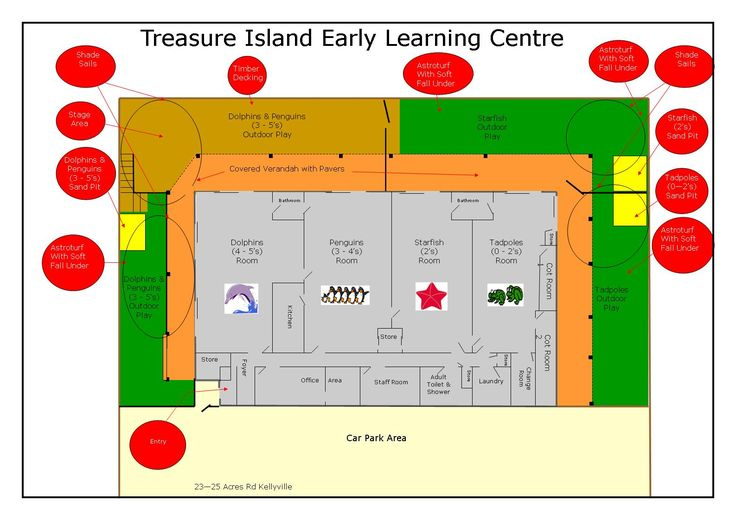 Floor Plan Of Kids World Day Care In