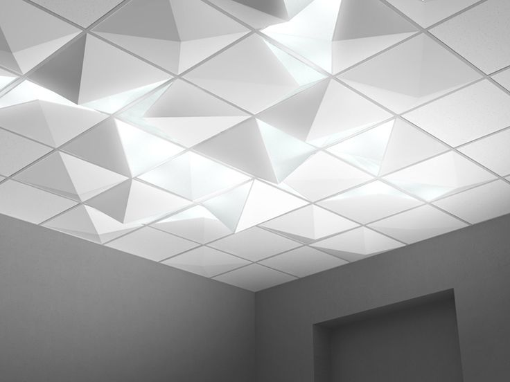 Dropped Ceiling Angular Lighting By Pool Miami