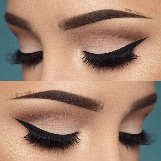 Eye makeup with black and white dress