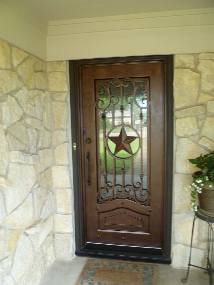 Texas Lone Star Iron Door Aaleadedglass Com Wrought Iron