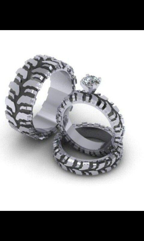 Mud Tire Tread Wedding Ring Set Wedding Ideas