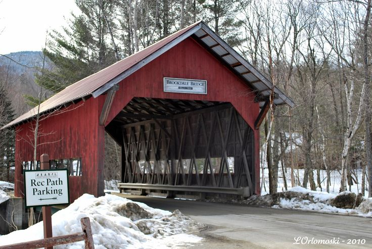 The Brookdale Bridge Off Of Route 108 In Stowe Vermont