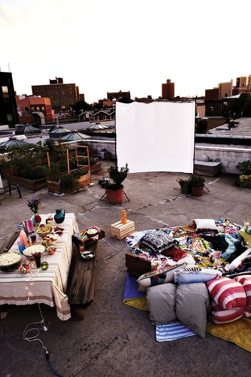 outdoor movie - bohemian inspiration - one hand in my pocket