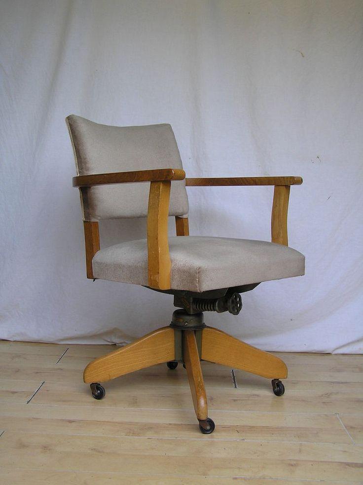 Vintage Hillcrest Desk Captains Office Oak 1950s Antique