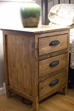 Wood Nightstand Bedside Tables And Farmhouse Style On Pinterest