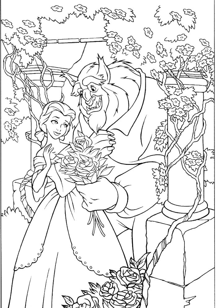42 best images about Coloring Pages/LineArt-Disney-Beauty ...   colouring pages for adults disney