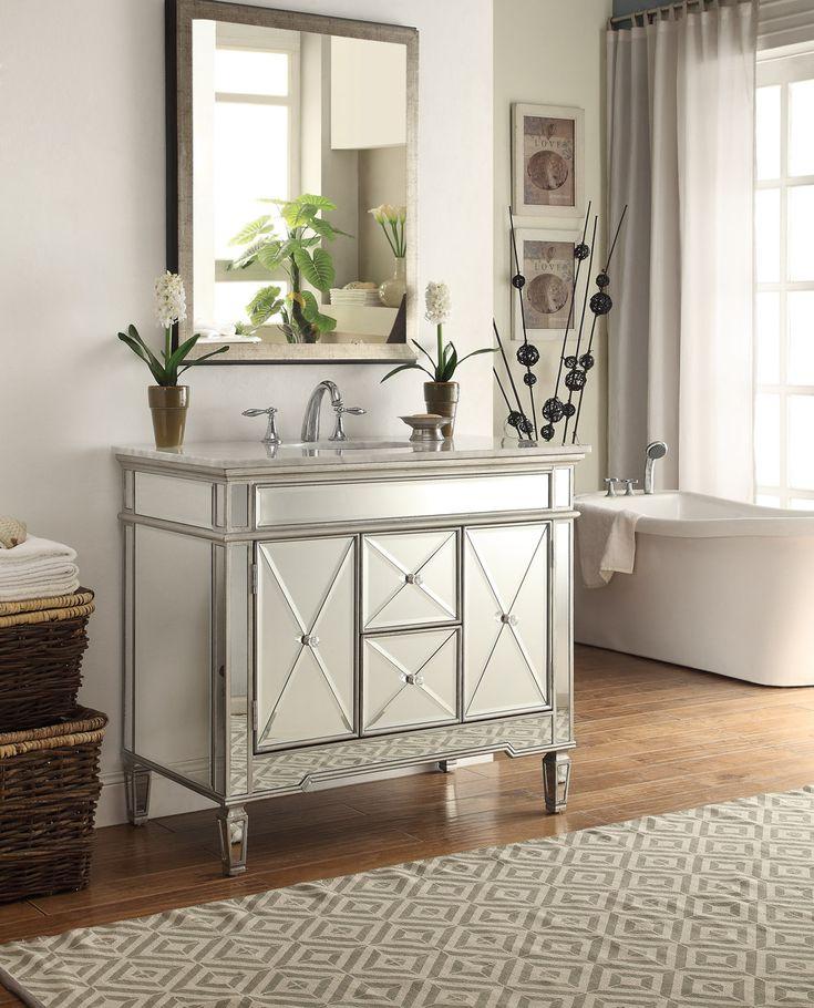 1000 images about mirrored bathroom vanities on pinterest on vanity for bathroom id=99091