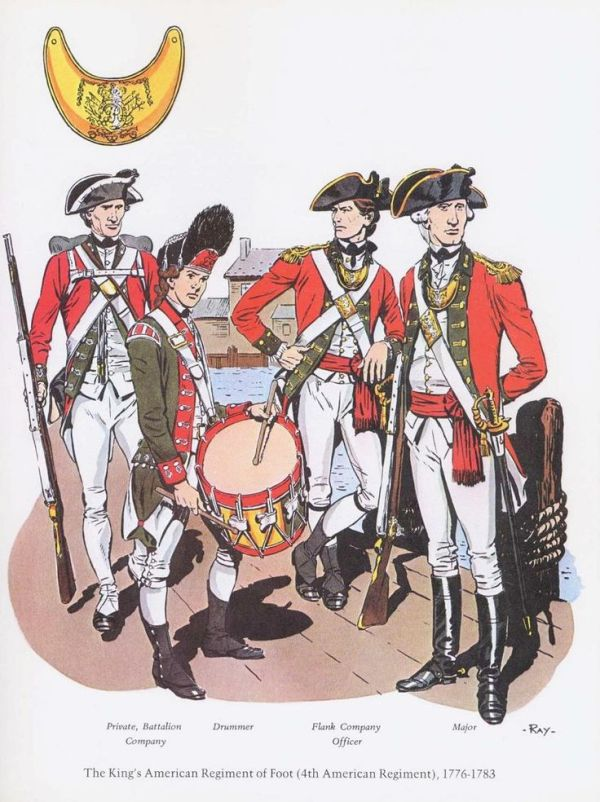 British; The King's American Regiment of Foot(4th American ...