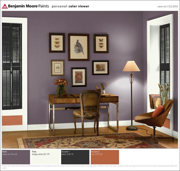 benjamin moore cabernet imagining pinterest benjamin on best office colors for productivity id=35050
