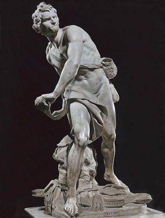 Gianlorenzo Bernini, David, 1623, Baroque sculpture. Look at the intense emotion