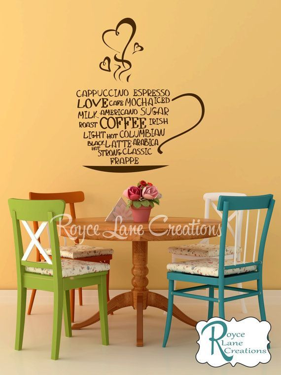 17 best images about kitchen wall decals on pinterest on wall stickers for kitchen id=77504