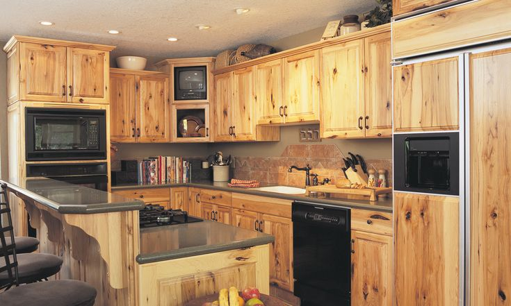 knotty hickory kitchen cabinets kitchen cabinets in on kitchen remodeling and design ideas hgtv id=33280