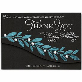 Timely Wishes Holiday Cards Business Thank You Cards