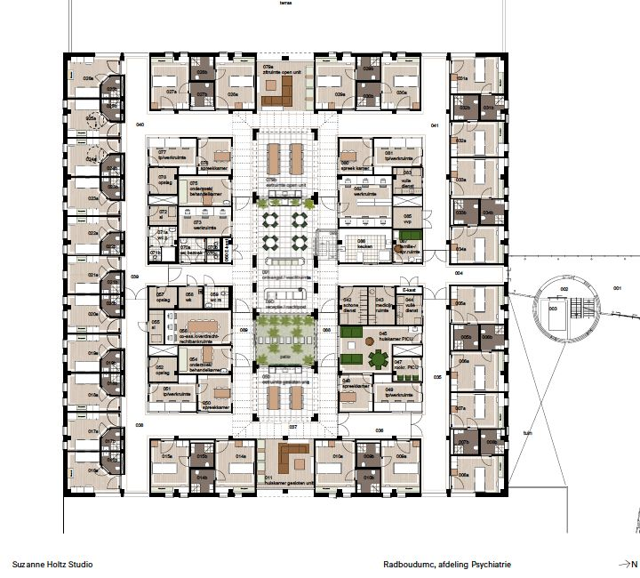 Hospital Interior Design Floor Plan And Layout Psychiatry