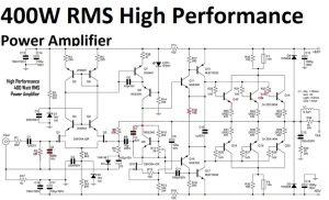 400W High Performance Power Amplifier circuit   Audio