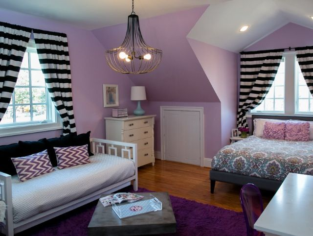 Discover your perfect shade with our grey bedroom ideas, from the sumptuous to the stylish,. Love the light purple, black, and white! | Master Bedroom