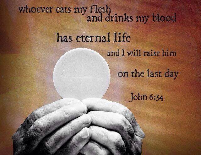 Image result for john 6:54 meme