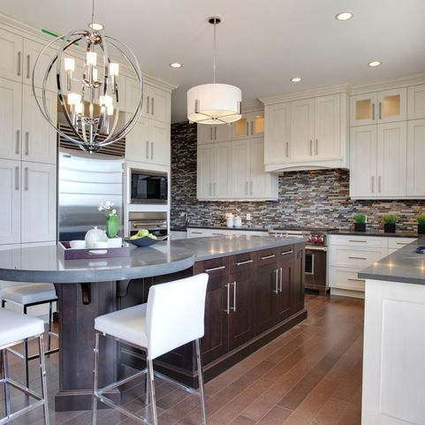 u shaped kitchen with narrow center island home design ideas pictures remodel and decor on u kitchen with island id=82116
