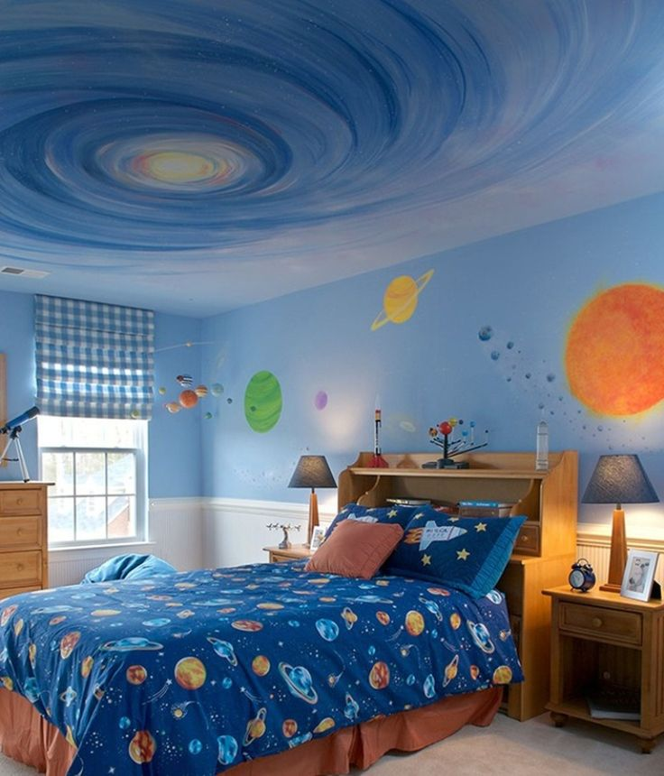 15 Fun Space Themed Bedrooms for Boys | Rilane – We Aspire to Inspire