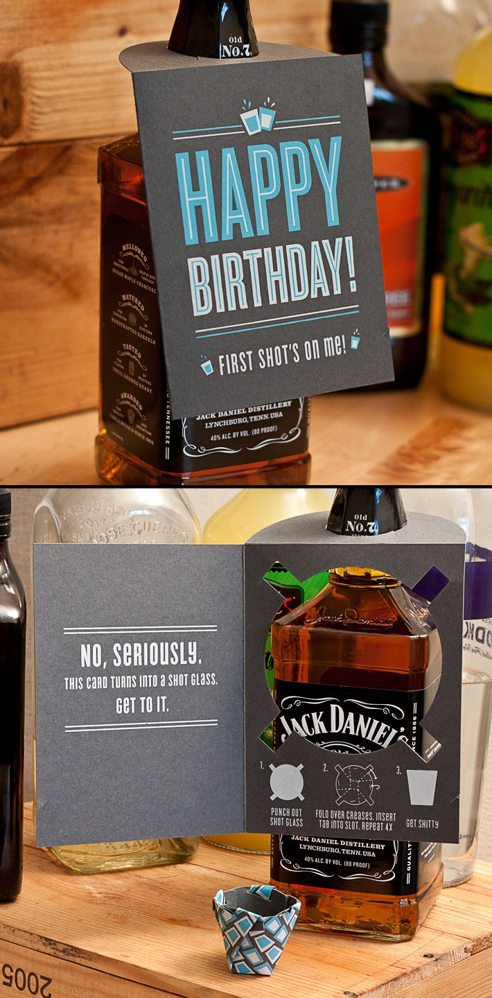 Shot glass card. So…. awesome….  #Amazing