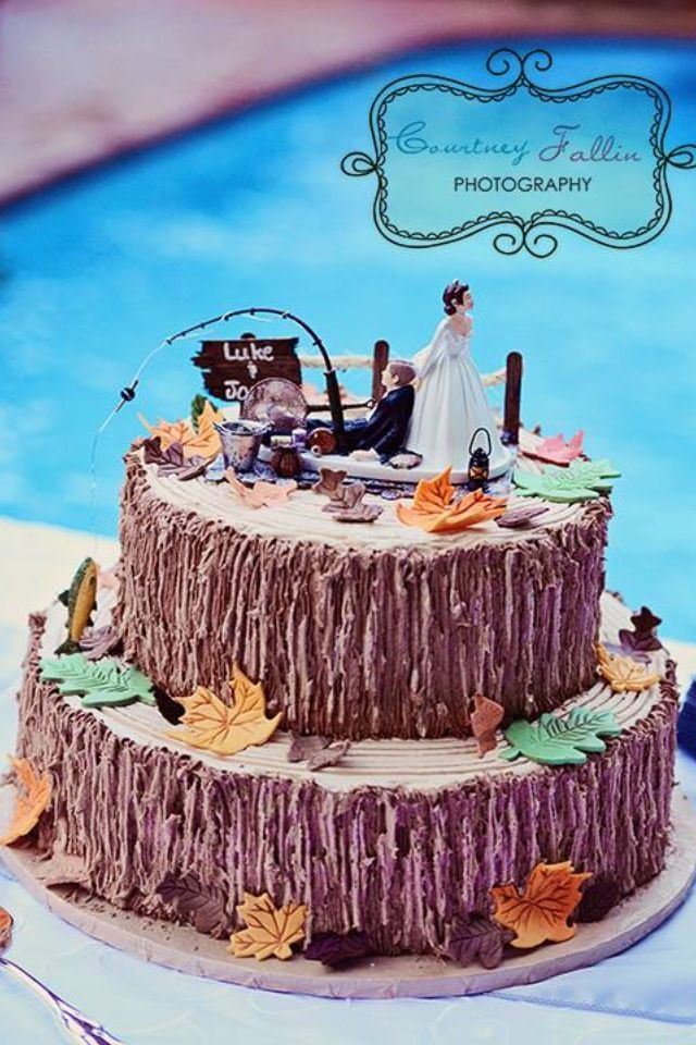 17 Best Ideas About Fishing Wedding Cakes On Pinterest