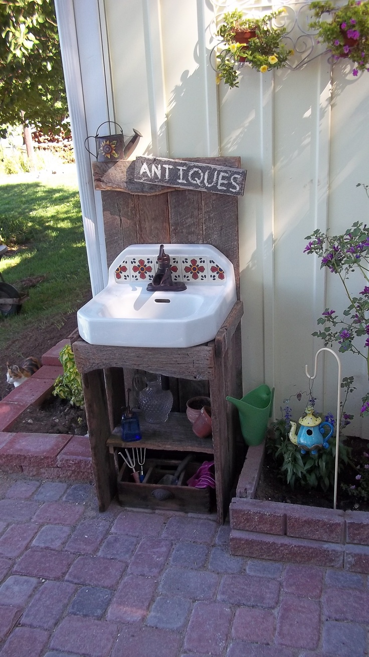 outdoor sink - great for quick wash ups! | My Style ... on Outdoor Patio Sink id=63041