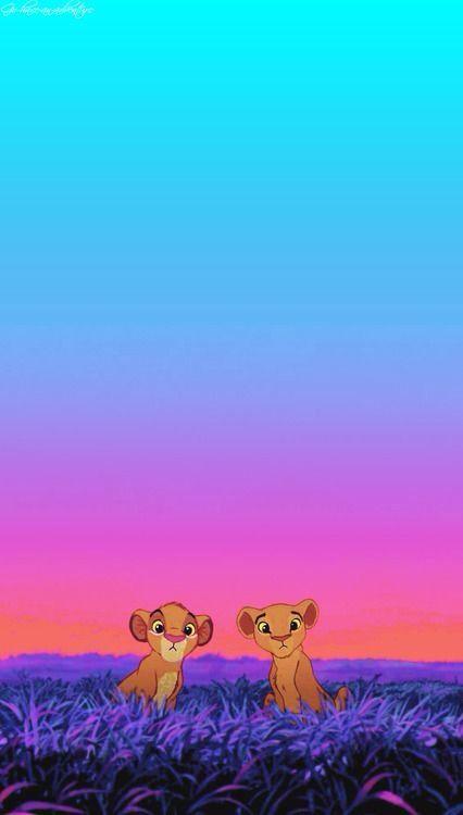 Simba And Nala Loving IPhone Wallpaper Disney