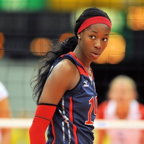 She's my favorite volleyball player. Well, her and Nakeyta ...