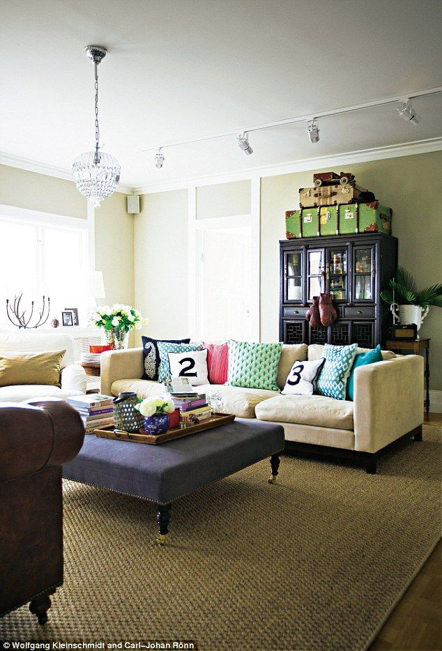 It's likely you and your guests will spend countless hours in this room, discussing and entertaining. Interiors: Fine and Scandi   Mismatched sofas and Living room