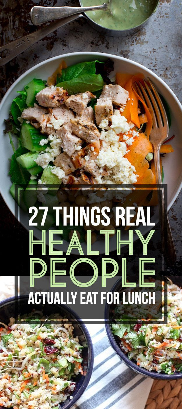 Here's What Real Healthy People Actually Eat For Lunch from @BuzzFeed Life Check out what @The Nutrition Twins have for lunch