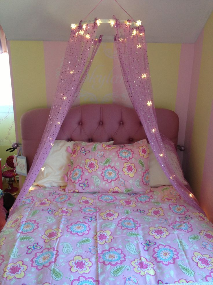Little Girls Bed DIY Canopy For The Home Pinterest